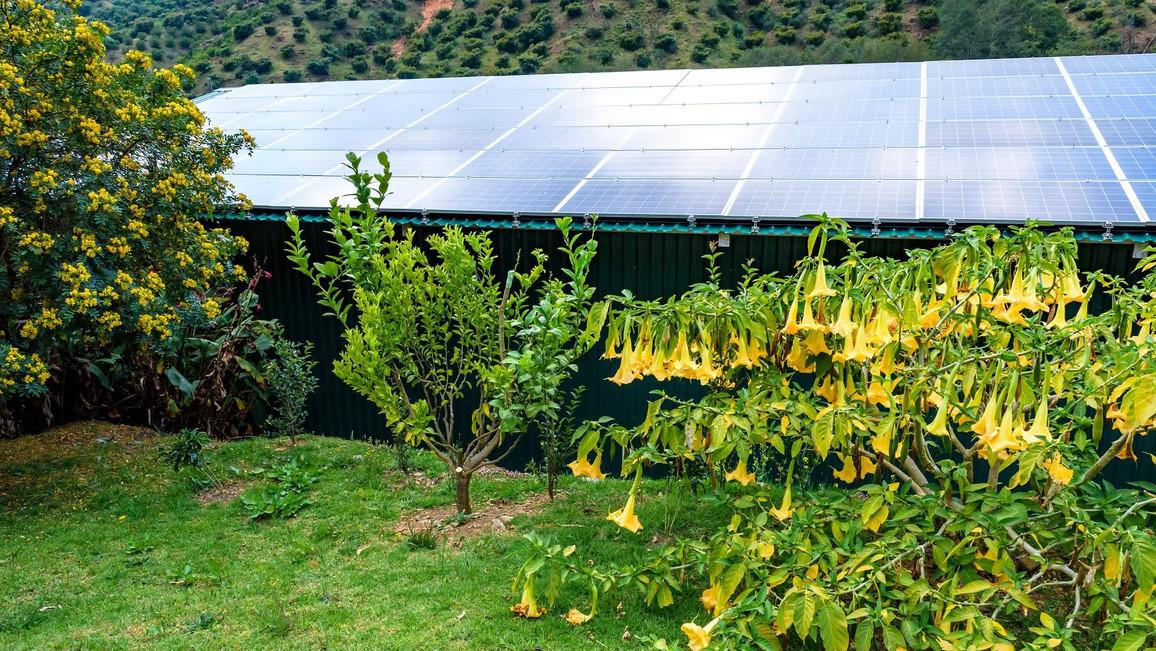 Photovoltaik auf Gartenhaus