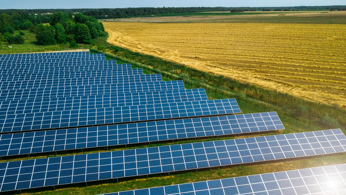 Solarpark zur Solarstrom-Gewinnung