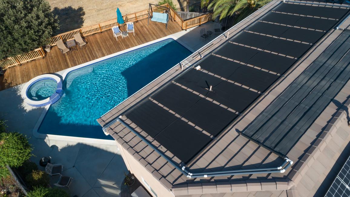 Thermische Solarpaneele Auf Dem Dach