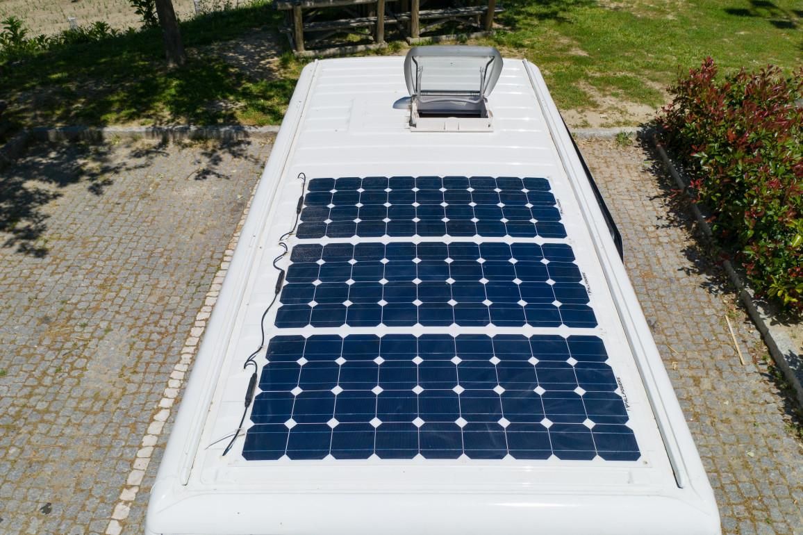 Camper Van Solardach Paneele Mit Dachfenster