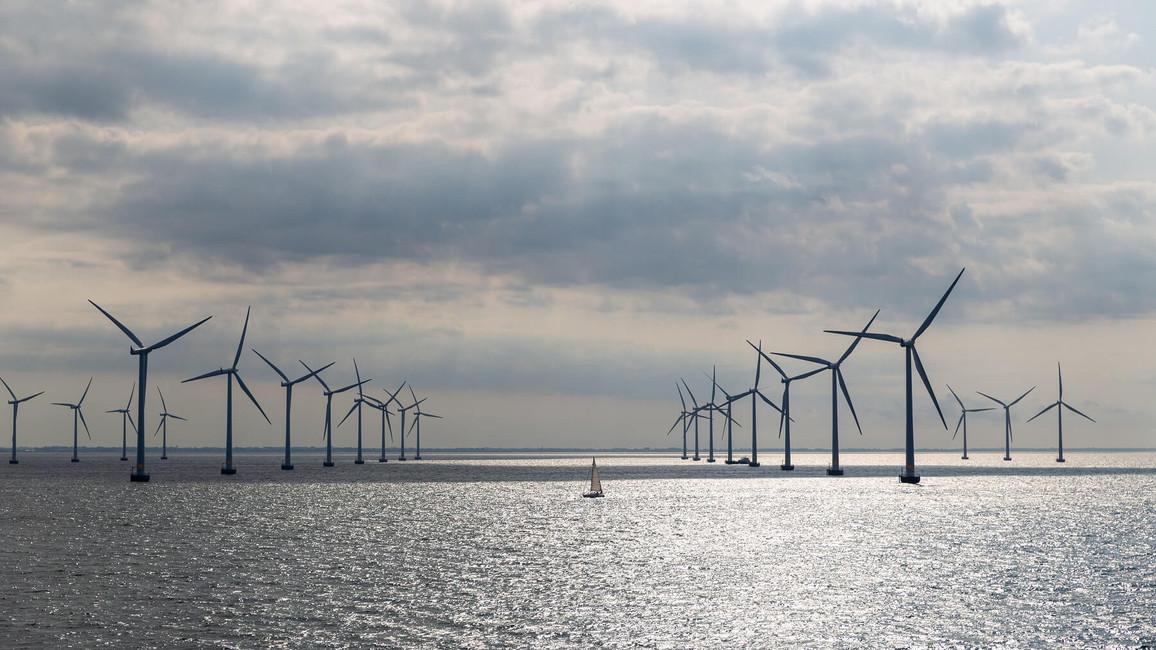 Offshore Windpark zur Stromerzeugung