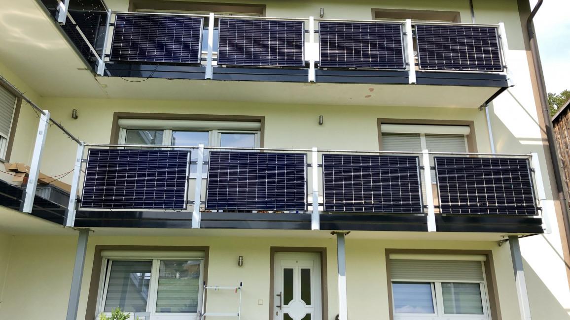 Solarmodule als Balkonanlage