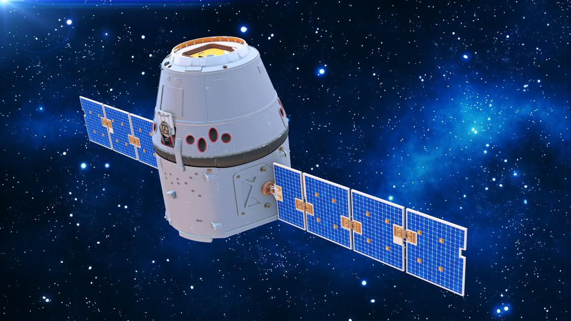 Solarmodule im Einsatz im Weltraum
