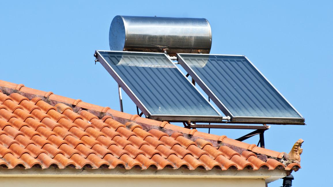 Solarkollektoren auf Dach