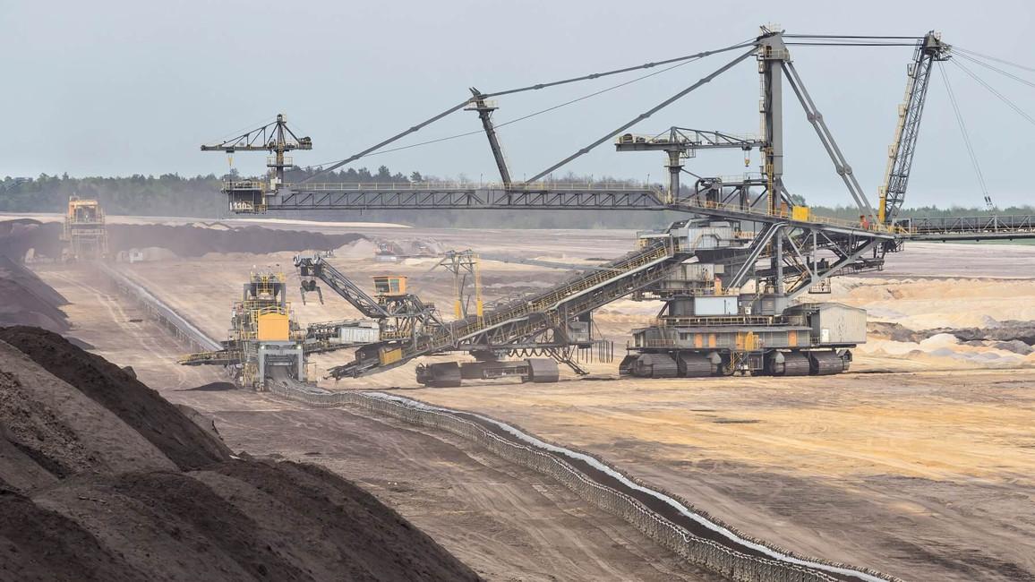 Braunkohle zur Stromerzeugung wird in Tagebauen abgebaut