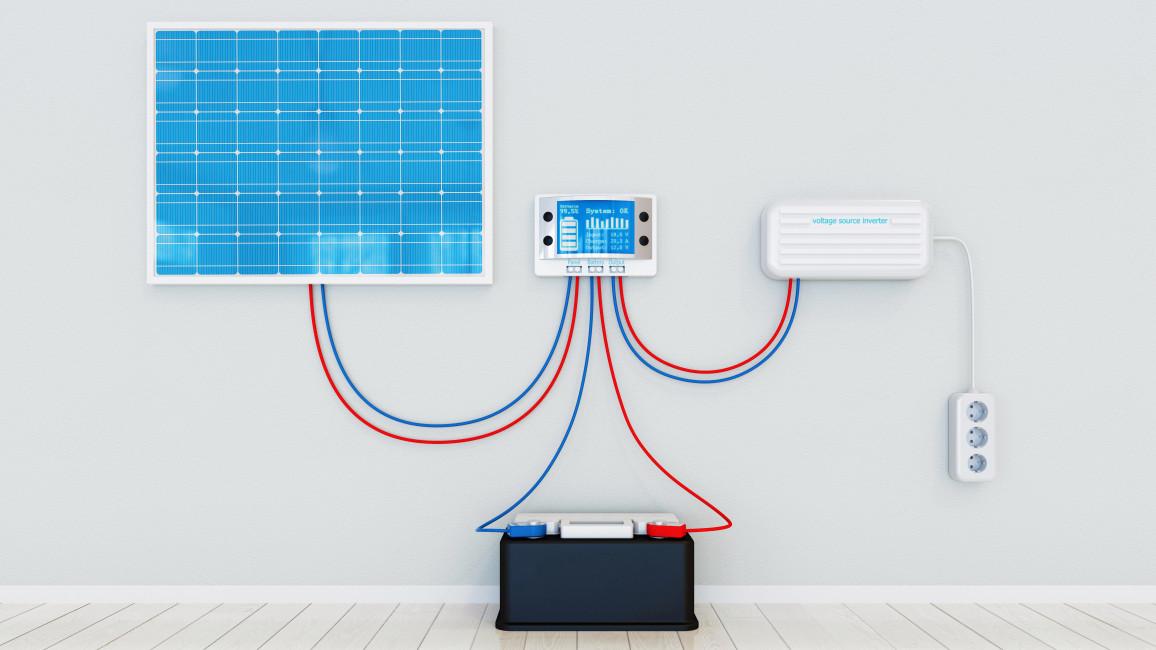 Solar-Wechselrichter in PV-Anlage